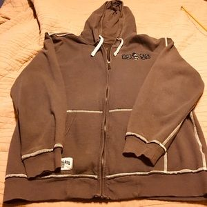 Disneyland sweatshirt zip up with hood.